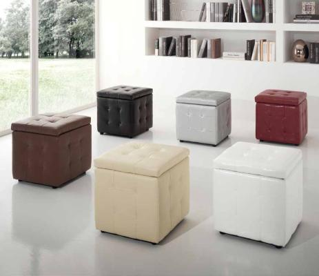 Pouff in ecopelle Cube store Luxury