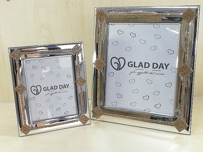 Porta Foto Glad Day con Strass Oro