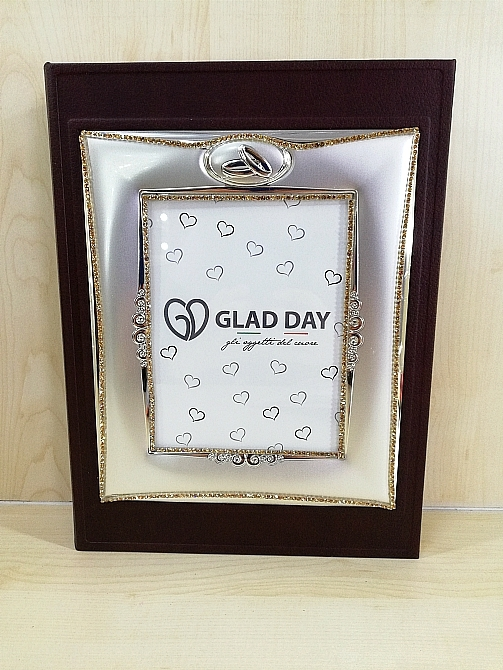 Album Porta Foto 50° Matrimonio Decoro Fedi e Strass Glad Day