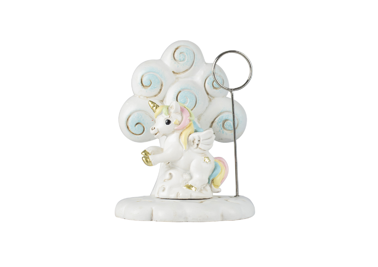 CLIP HOLDER UNICORNO CON ADV RESINA